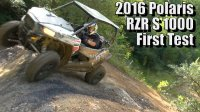2016 Polaris RZR S 1000, First Test