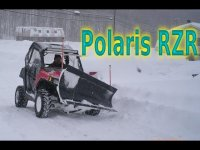 Polaris RZR and Ranger Plow Deep Snow/ Blizzard 2016