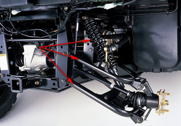 Передняя подвеска для квадроцикла своими руками