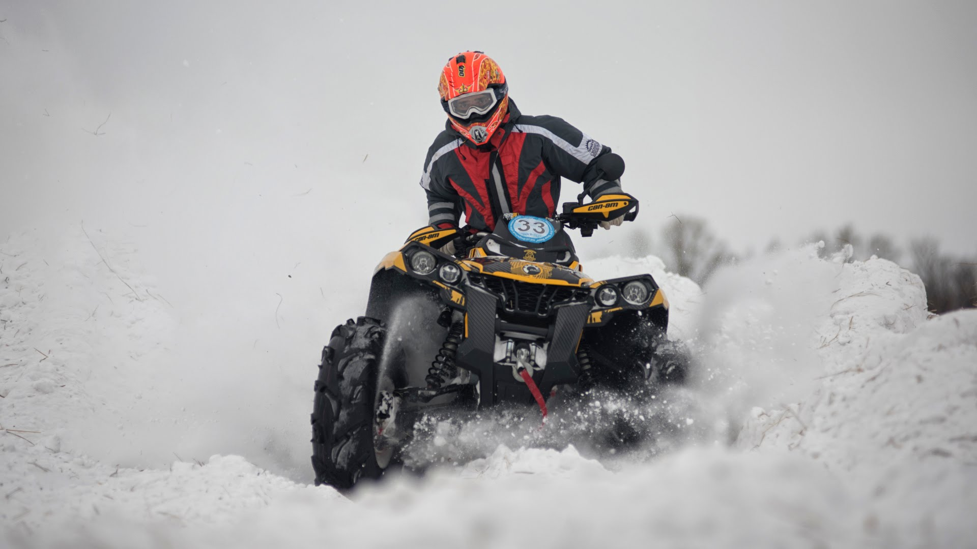 "Квадрогонка  День Пингвина 2016 ""Snow Battle""  Часть 1."